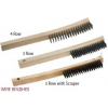 Curved Handle Wire Brushes (Large, Steel)