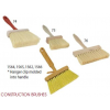 Masonry or Kalsomine Brushes - Plastic, Polypropylene (4 Rows)